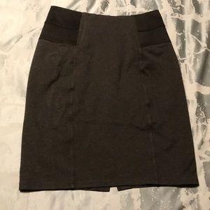 Calvin Klein grey skirt pull on stretch